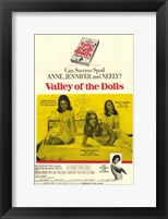 Framed Valley of the Dolls - yellow