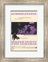 Framed Bonnie and Clyde Dunaway & Beatty