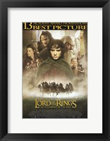 Framed Lord of the Rings: Fellowship of the Ring Best Picture