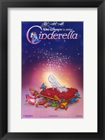 Framed Cinderella Glass Slipper