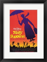 Framed Mary Poppins Silhouette