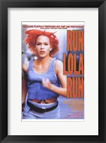 Framed Run Lola Run Orange