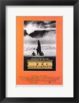 Framed Big Wednesday Surfing Orange