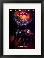 Framed Batman and Robin Heroes