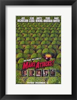 Framed Mars Attacks Green Brain Aliens