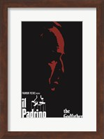Framed Godfather Red Profile Italian