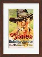 Framed Ridin' for Justice Smoking Cowboy