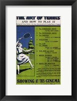 Framed Art of Tennis and How to Play It