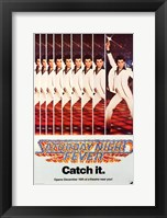 Framed Saturday Night Fever (The Bee Gees) - catch it