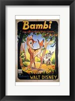 Framed Bambi Walt Disney