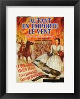 Framed Autant En Emporte Le Vent Fire