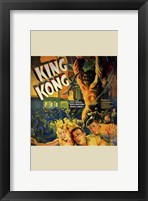 Framed King Kong Running People