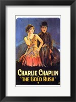 Framed Gold Rush Flapper