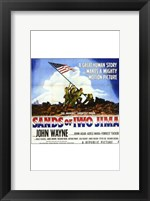 Framed Sands of Iwo Jima - American flag (square)