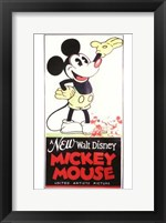 Framed New Walt Disney Mickey Mouse
