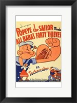 Framed Popeye the Sailor Meets Ali Baba and the