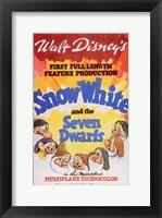 Framed Snow White and the Seven Dwarfs 1st Full Length