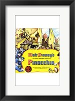 Framed Pinocchio Town