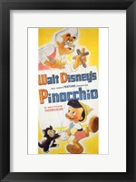 Framed Pinocchio Geppetto