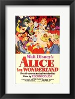 Framed Alice in Wonderland Disney