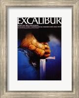 Framed Excalibur Holding Sword