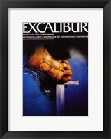 Framed Excalibur Holding Sword