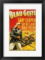 Framed Beau Geste Gary Cooper