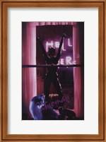 Framed Batman Returns Catwoman in Window