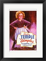 Framed Dimples Shirley Temple