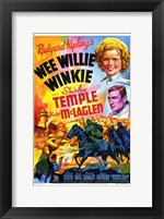 Framed Wee Willie Winkie with scenes