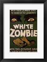 Framed White Zombie