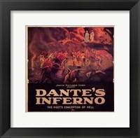 Framed Dante's Inferno - horizontal