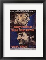 Framed Vera Cruz movie poster