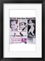 Framed Misfits Clark Gable Marilyn Monroe Montgomery Cliff