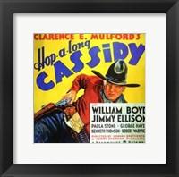 Framed Hop-Along Cassidy William Boyd