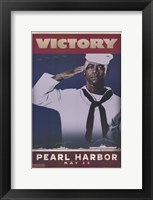Framed Pearl Harbor Art Deco Victory