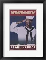 Pearl Harbor Art Deco Victory Framed Print