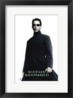 The Matrix Reloaded Keanu Reeves as Neo Framed Print