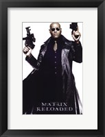 The Matrix Reloaded Laurence Fishburne as Morpheus Framed Print