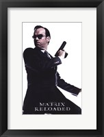 Framed Matrix Reloaded Hugo Weaving as Agent Smith