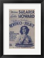 Framed Romeo and Juliet Original Metro-Goldwyn Mayer