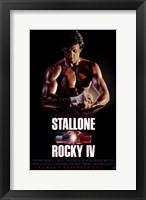 Framed Rocky 4 Stallone