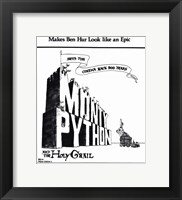 Framed Monty Python and the Holy Grail - Black and White
