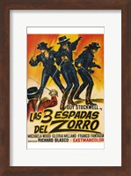 Framed Three Swords of Zorro