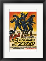 Framed Three Swords of Zorro