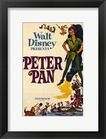 Framed Peter Pan by Disney