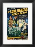 Framed Lone Ranger Rides Again Masked Victory