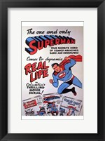 Framed Superman Coming to the Movies