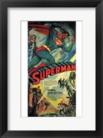 Framed Superman Comic