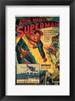 Framed Atom Man Vs Superman Superman Flies Again